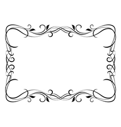 Floral ornamental frame vector