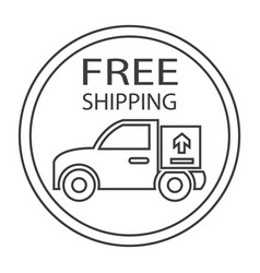free shipping truck vector image vector image