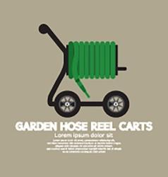 Garden hose reel carts vector