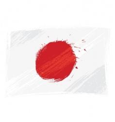 Grunge japan flag vector