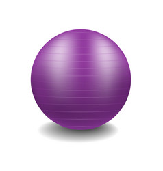 Gym ball in purple design vector