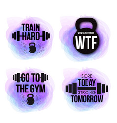 inspirational fitness quotes to motivate vector image vector image
