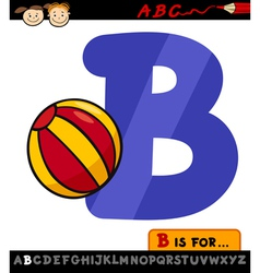 letter b with ball cartoon vector image vector image