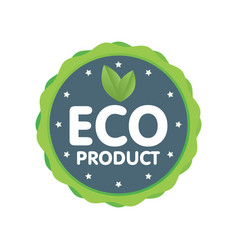Modern green badge eco product label sticker vector