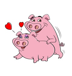 pigs humping vector image