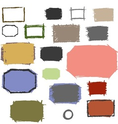 Set grunge frames with scuffed vector image vector image