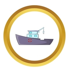 Ship for catching fish icon vector