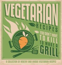 Vegetarian food vintage poster design vector image vector image