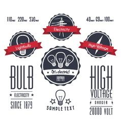 Vintage electricity labels vector