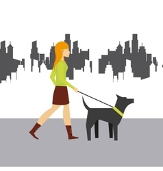 woman walking icon vector image