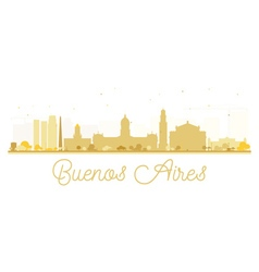 Buenos aires skyline golden silhouette vector