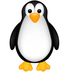 Funny penguin cartoob vector