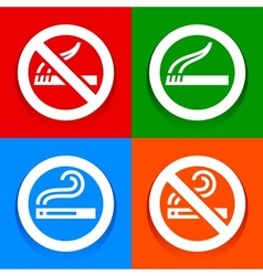 Stickers multicolored - no smoking area symbol vector
