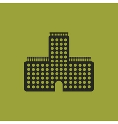 Business center building vector