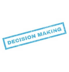 Decision making rubber stamp vector