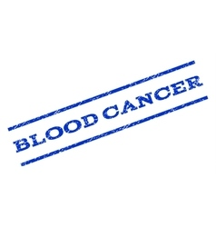 Blood cancer watermark stamp vector
