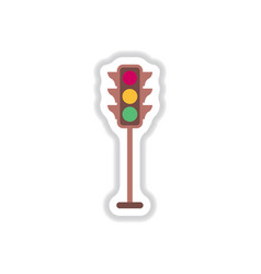 traffic light sticker vector image