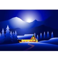 Winternight and happy christmas night vector