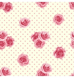 Flower seamless pattern with roses vector