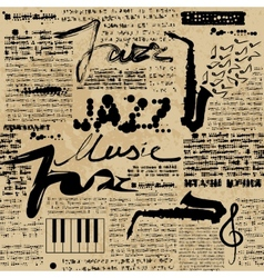 Newspaper jazz vector