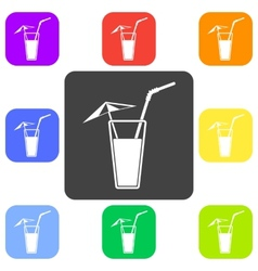 Alcohol drink icon cold vector
