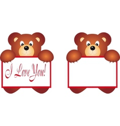 Bear holding placard vector