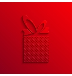 Modern gift light icon background vector