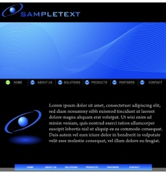 Abstract website template for business vector