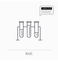 Laboratory bulbs icon chemistry sign vector