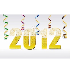 new year card 2012 vector image