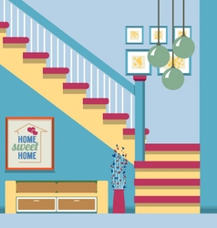 Hallway decoration vector