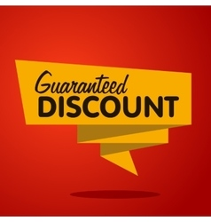 discount label origami style vector image