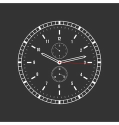 Clock on a black background vector