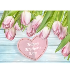 Beautiful bouquet of purple tulips EPS 10 vector image