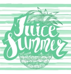 Juice summer with a pineapple vector
