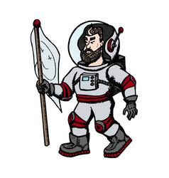 astronaut modern creative vector image
