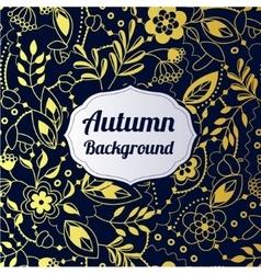Autumn golden background vector