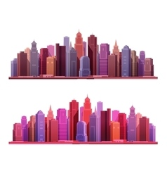 Big modern city with skyscrapers construction or vector