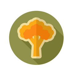 Broccoli flat icon vegetable vector