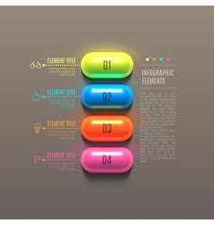 Business Infographics capsule concept vector image vector image
