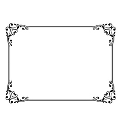 calligraphy frame vector image vector image