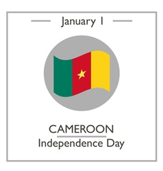 Cameroon Independence Day vector image