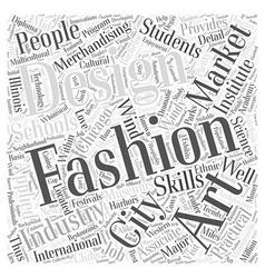 Chicago fashion schools word cloud concept vector