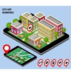 City navigation app vector