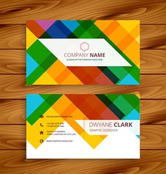 Colorful business card design vector