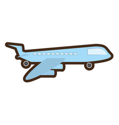 delivery airplane worldwide service vector image