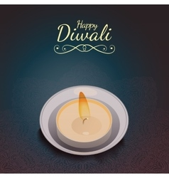 Diwali greeting card vector image