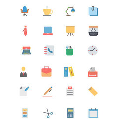 Flat office icons 1 vector