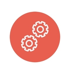 Gears thin line icon vector image