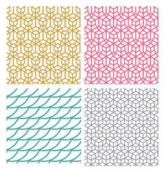 Geometric seamless pattern in hexagon concept vector